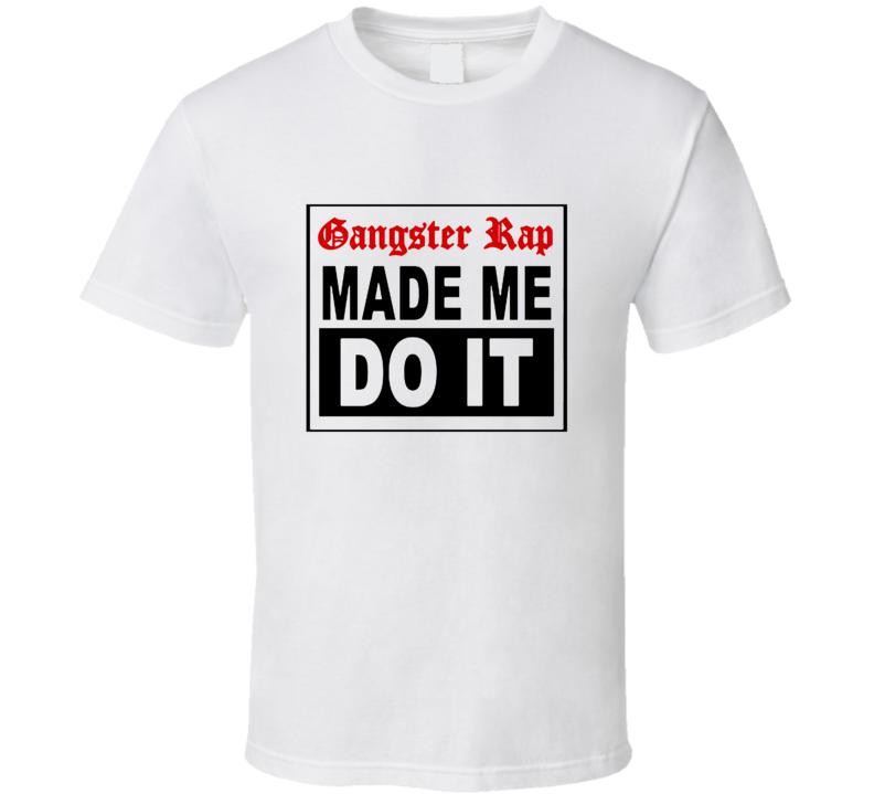 Gangster Rap Made Me Do It Blink 182 Grammy Replica Music T Shirt