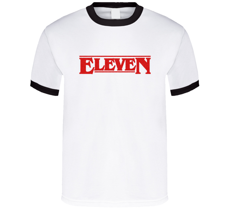Eleven Stranger Things Zac Efron Millie Replica TV Show T Shirt