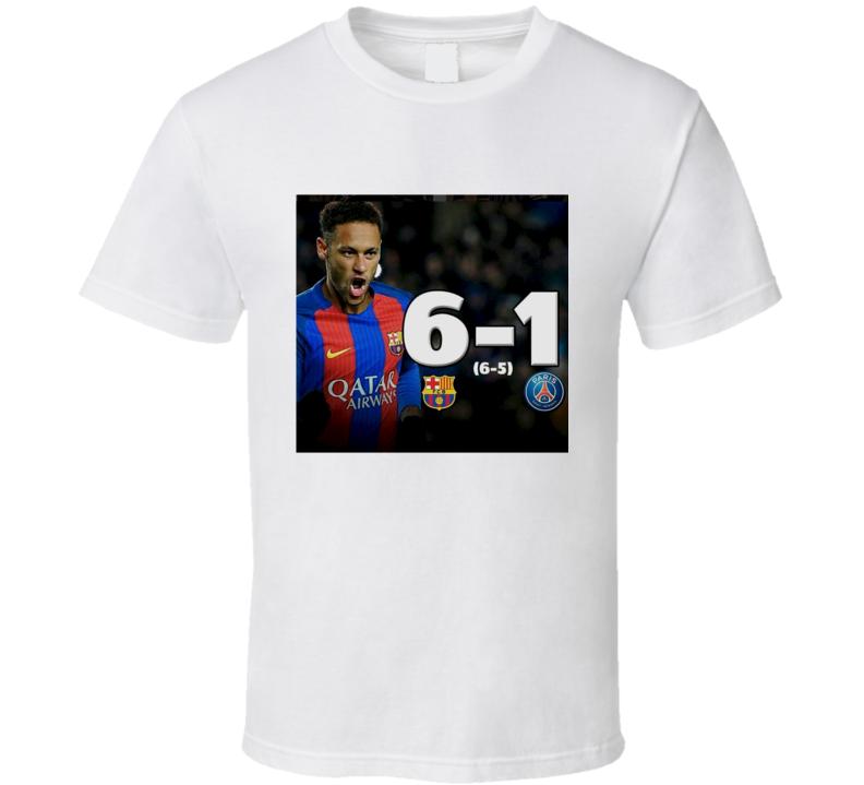 Barcelona Greatest Comeback Soccer Champions League 6-1 Fan T Shirt