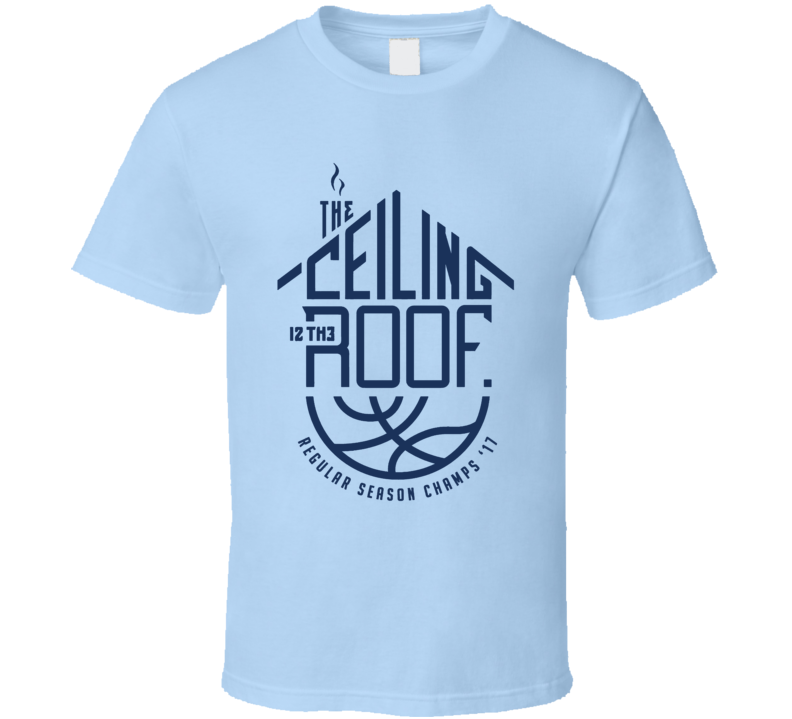 Ceiling is the Roof National Champions 2017 Michael Jordan North Carolina Basketball Fan T Shirt