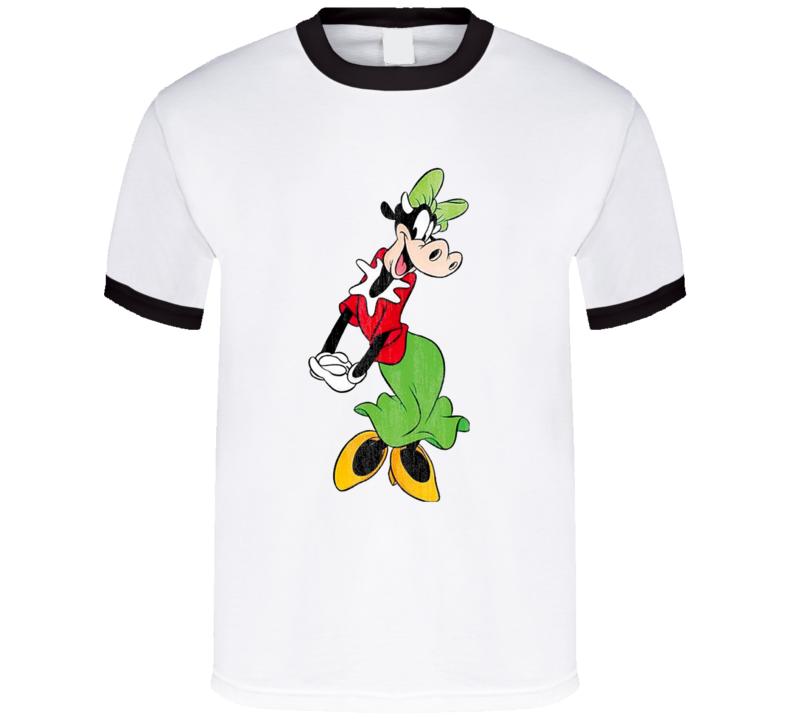 Clarabelle Cow Retro Cartoon Character Worn Look Gift T Shirt