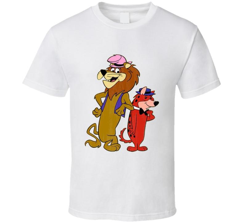 Lippy the Lion and Hardy Har Har Retro Cartoon Character Worn Look Gift T Shirt