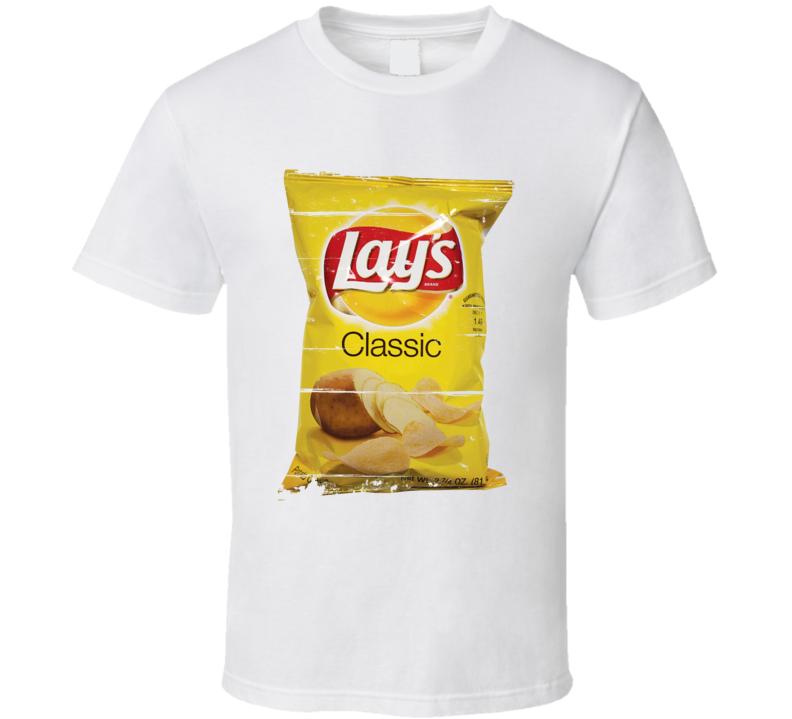 Lays Classic Potato Chips Food Funny Cool T Shirt
