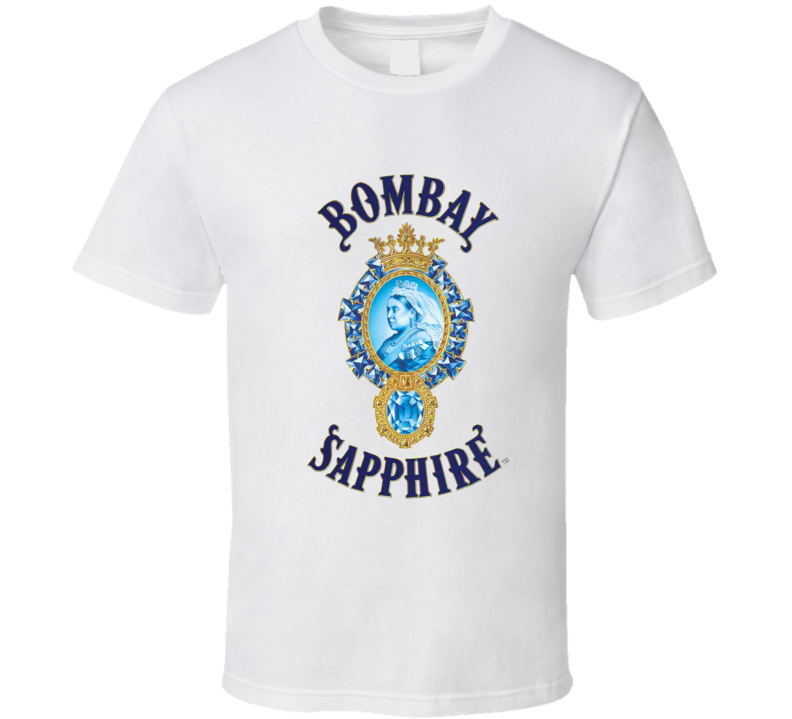 Bombay Sapphire Liquor Whiskey Beer Gin Father's Day Gift T Shirt