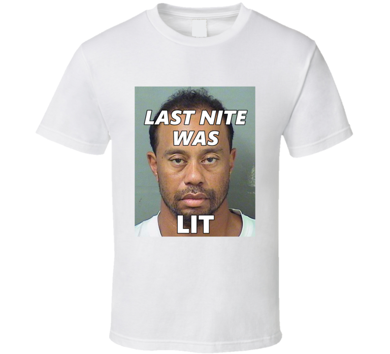 Tiger Woods DUI Fan Mugshot T Shirt
