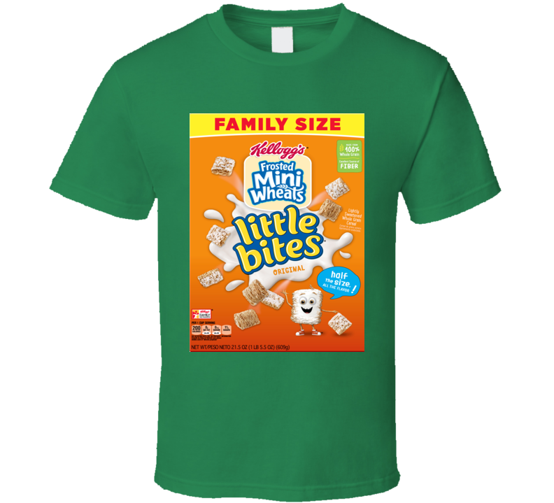Frosted Mini-wheats Cereal Food Logo Gift T Shirt