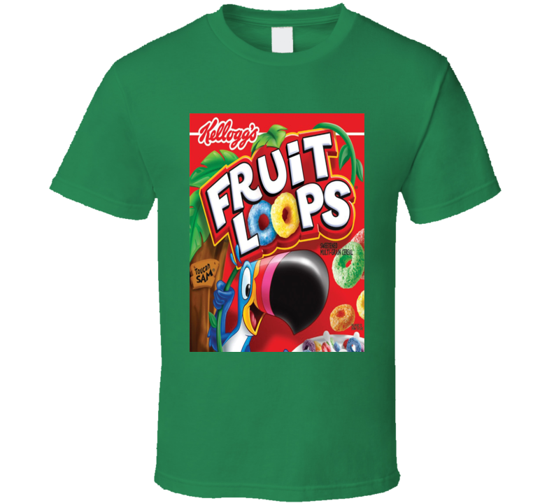 Froot Loops Cereal Food Logo Gift T Shirt