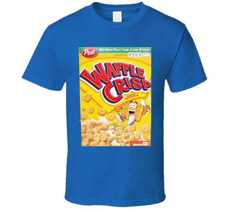 Waffle Crisp Cereal Food Logo Gift T Shirt