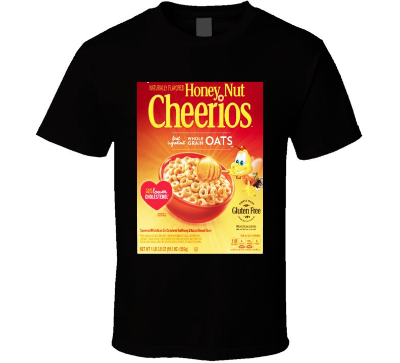 Honey Nut Cheerios Cereal Food Logo Gift T Shirt