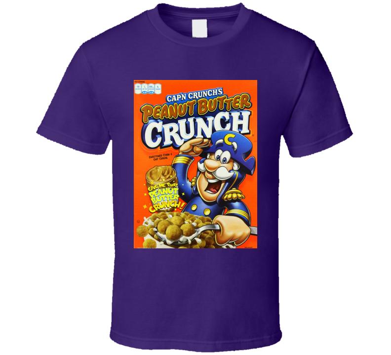 Peanut Butter Captain Crunch Cereal Food Logo Gift T Shirt