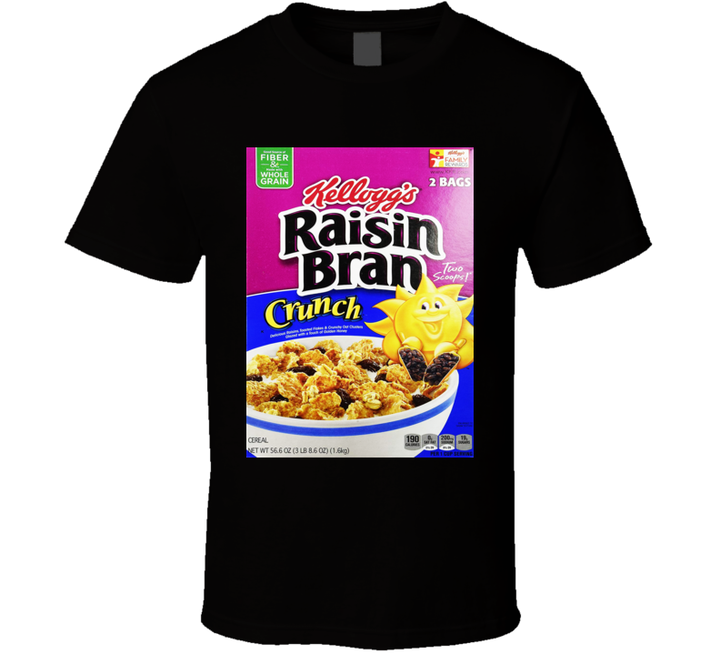 Raisin Bran Crunch Cereal Food Logo Gift T Shirt