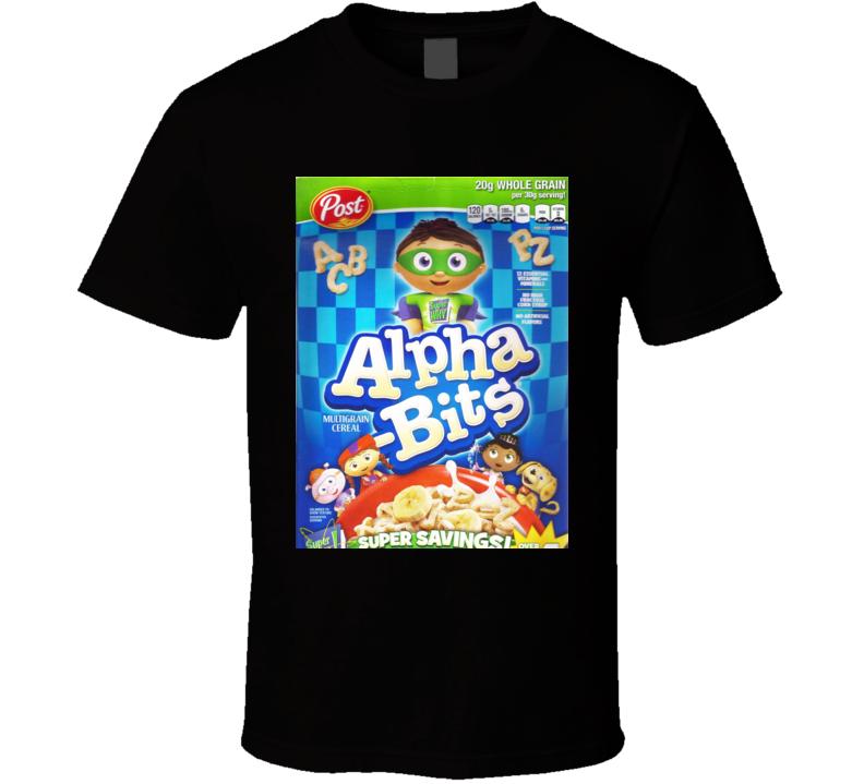Alpha-bits Cereal Food Logo Gift T Shirt