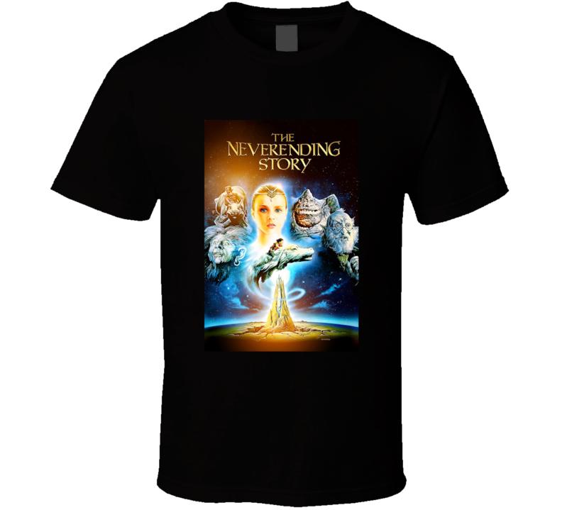 The Neverending Story 80's Movie Poster Gift T Shirt