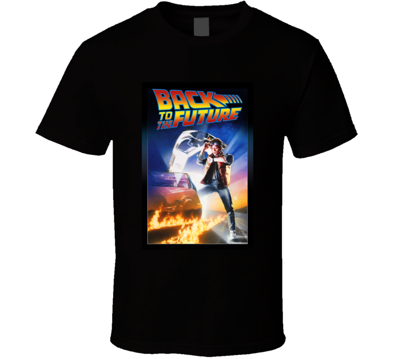 Back To The Future 80's Movie Poster Gift T Shirt