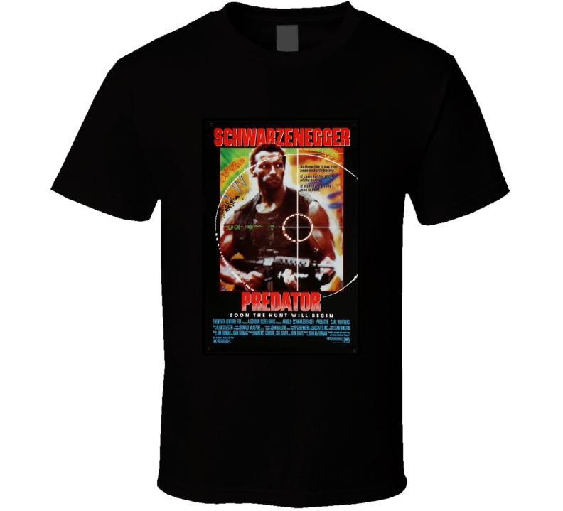 Predator 80's Movie Poster Gift T Shirt