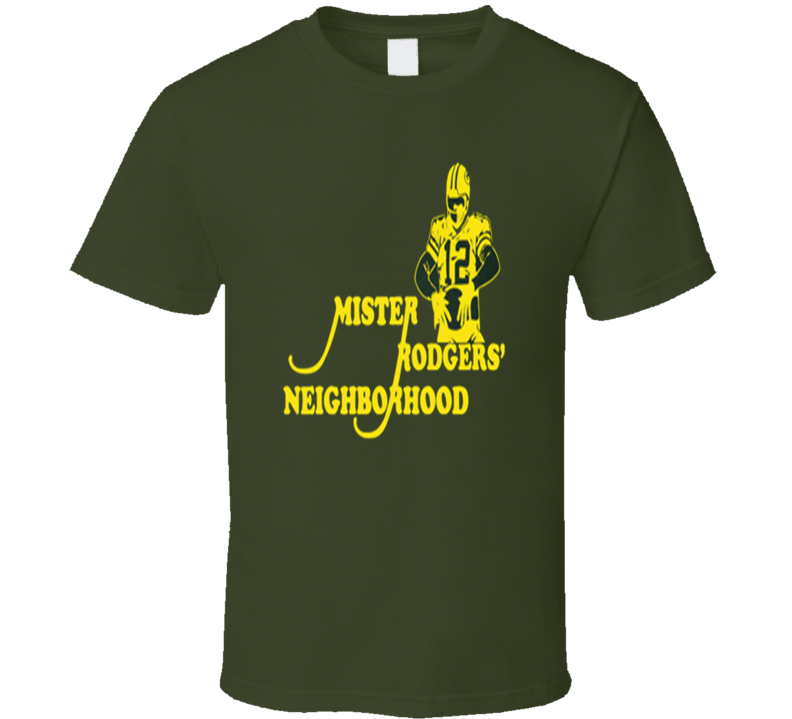 Aaron Rodgers Mr Rodgers Neighborhood Football T Shirt