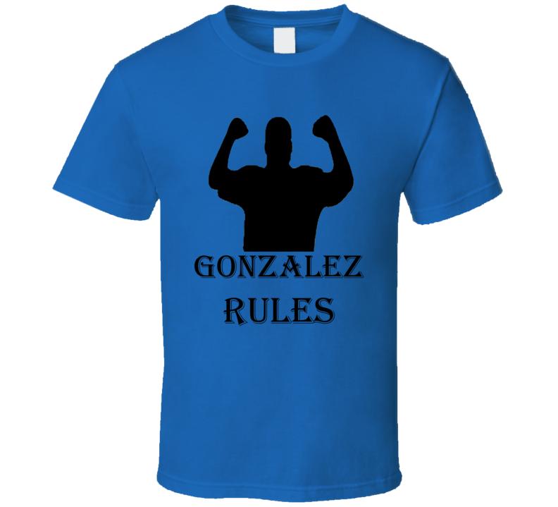 Gonzalez Rules Family Reunion Funny T Shirt