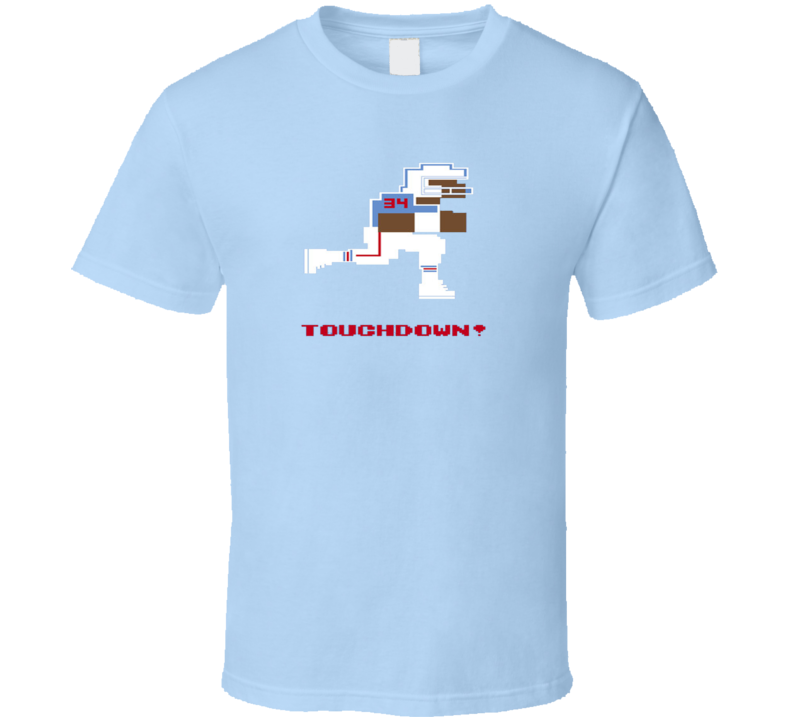 Earl Campbell 8 Bit Tecmo Bowl Houston Retro Football T Shirt