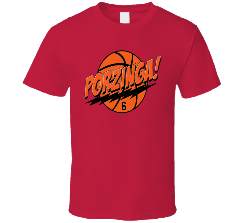 Kristaps Porzingis Porzinga Basketball T Shirt