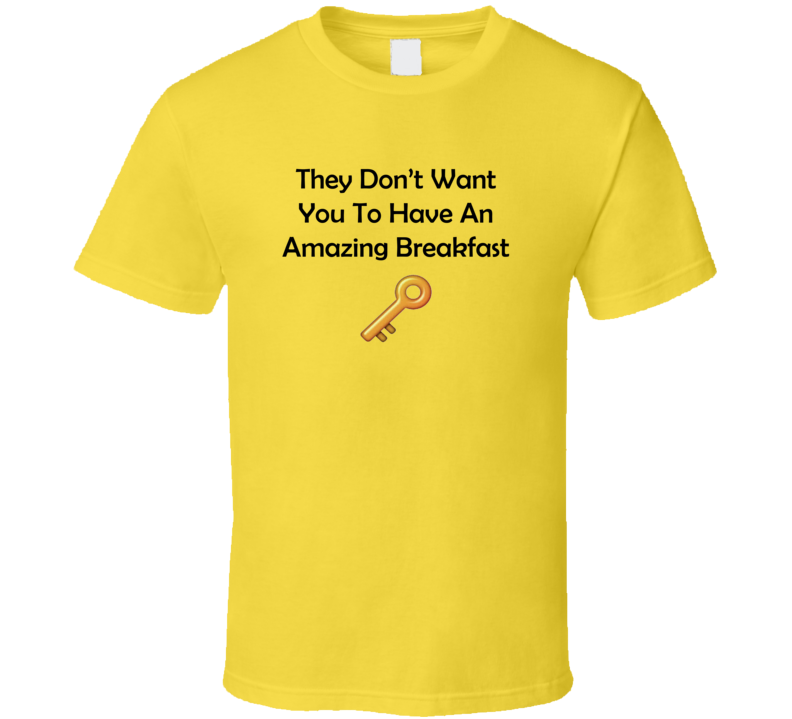 DJ Khaled The Key Dont Want You Amazing Breakfast T Shirt