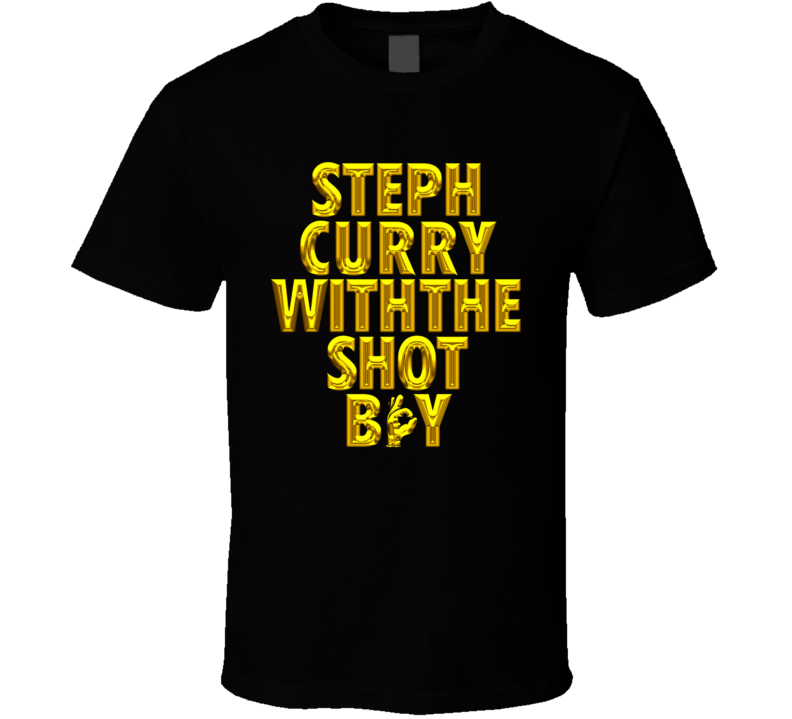 Steph Curry With The Shot Boy Basketball T Shirt