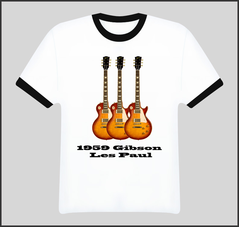 Sunburst 1959 Gibson Guitar T Shirt