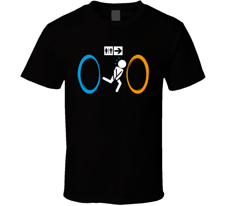 Portal Bathroom Parody Video Game T Shirt