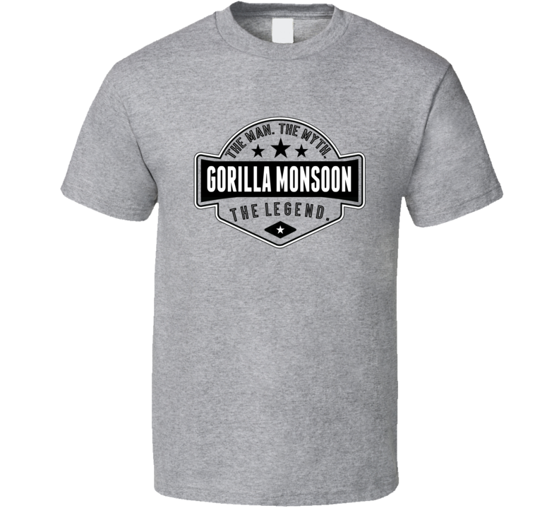 Gorilla Monsoon The Man The Myth The Legend Retro Wrestling T Shirt