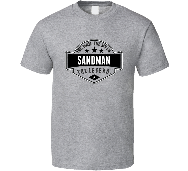 Sandman The Man The Myth The Legend Retro Wrestling T Shirt