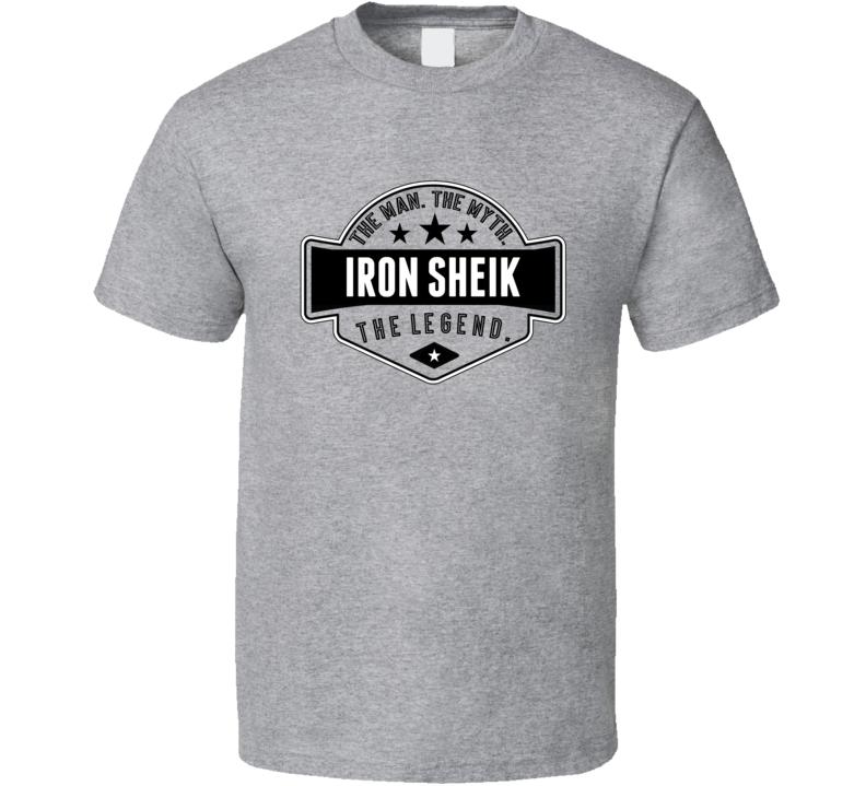 Iron Sheik The Man The Myth The Legend Retro Wrestling T Shirt
