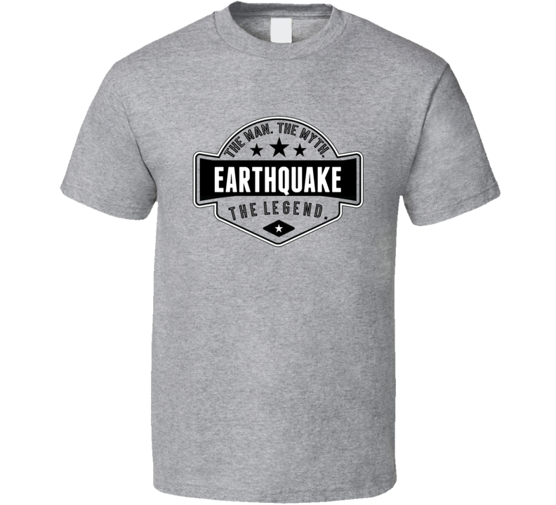 Earthquake The Man The Myth The Legend Retro Wrestling T Shirt