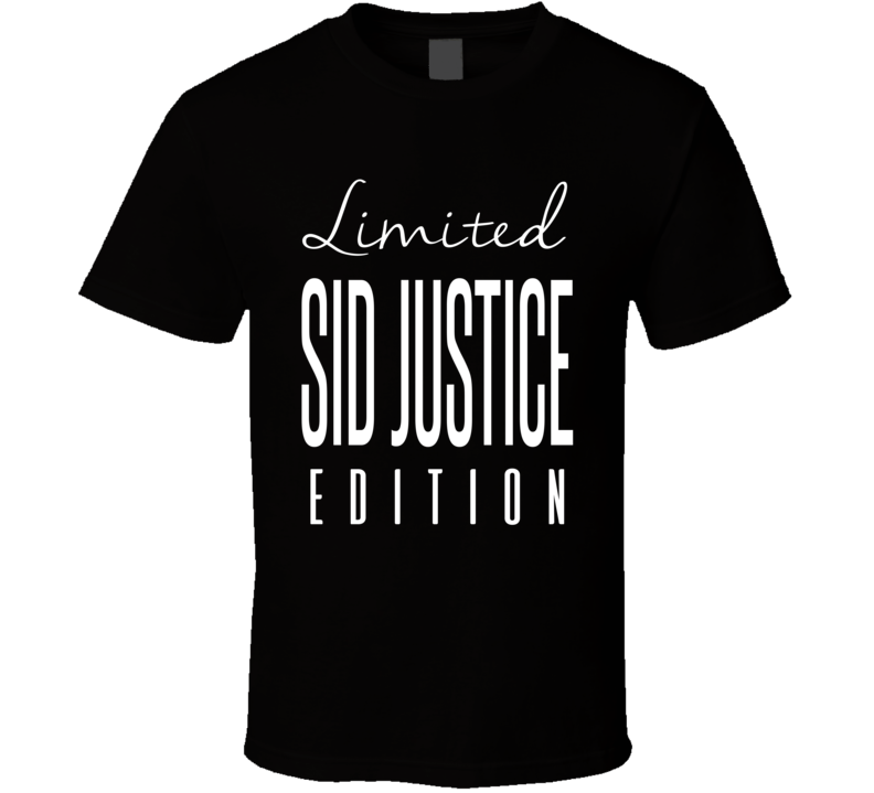 Sid Justice Limited Edition Retro Wrestling T Shirt