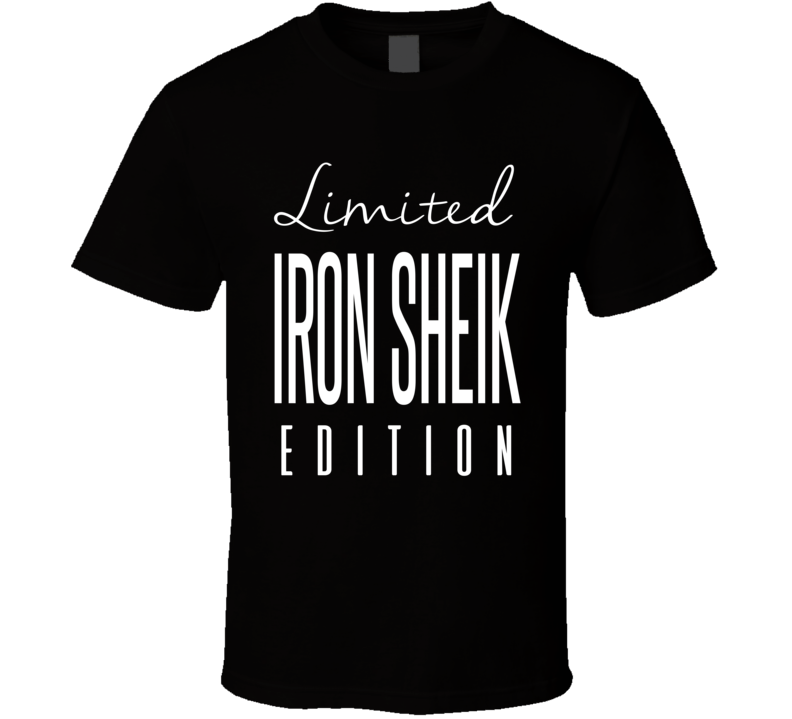 Iron Sheik Limited Edition Retro Wrestling T Shirt
