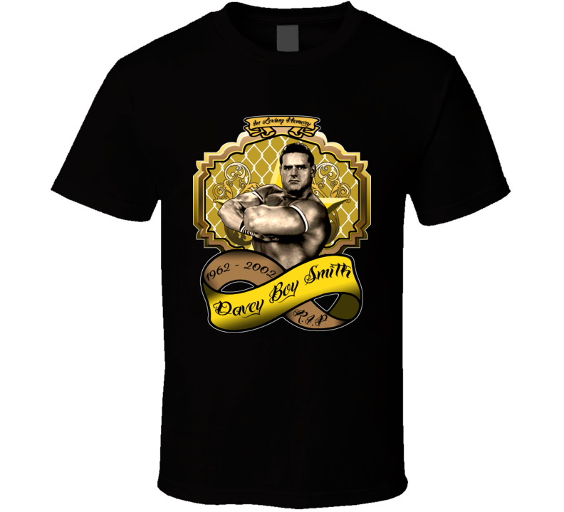 Davey Boy Smith Wrestling Tribute T Shirt