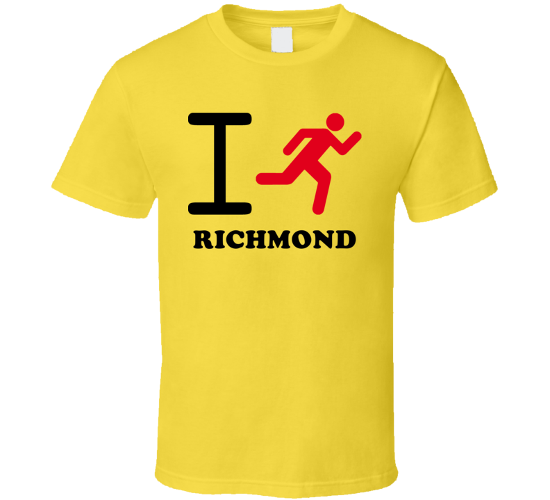I Run Richmond Australia Cool City T Shirt