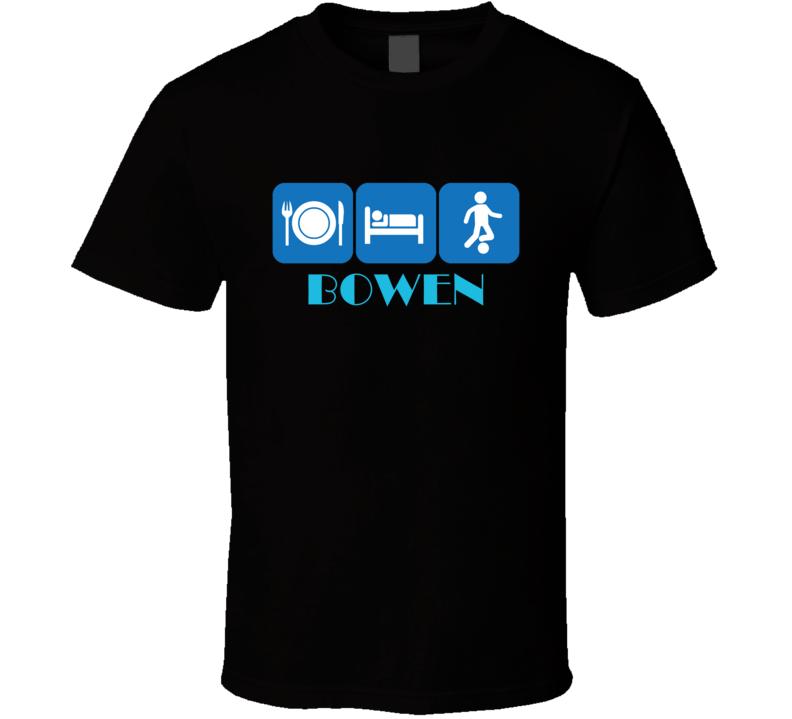 Eat Sleep Soccer Bowen Australia Cool Sports City T Shirt