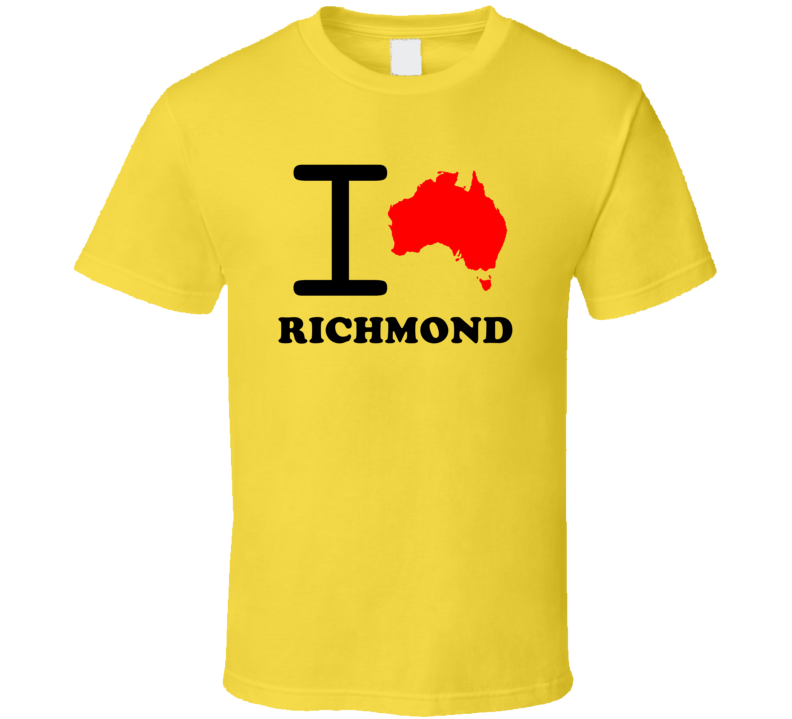 I Love Richmond Australia Country Heart Cool City T Shirt