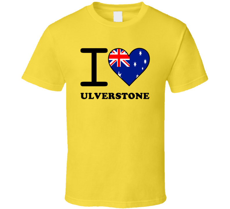 I Love Ulverstone Australia Heart Flag Cool T Shirt