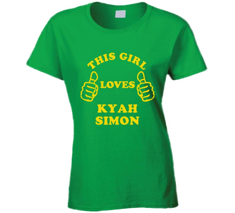 This Girl Loves Kyah Simon Australian Sports Athletes T Shirt