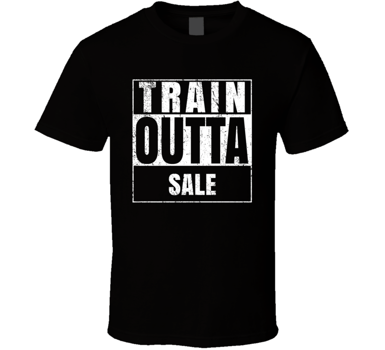 Train Outta Sale Australia City Straight Outta Parody Crossfit Boxing MMA T Shirt