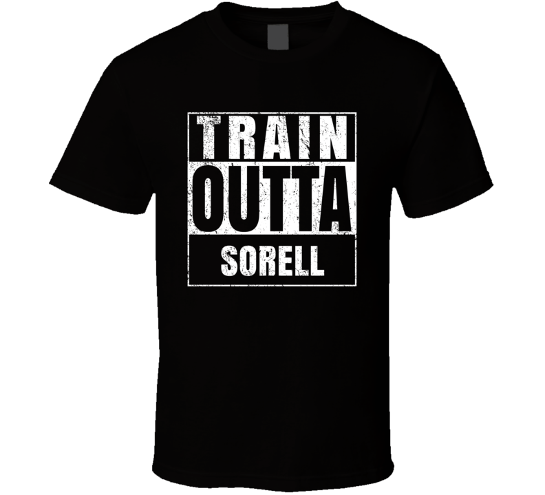 Train Outta Sorell Australia City Straight Outta Parody Crossfit Boxing MMA T Shirt
