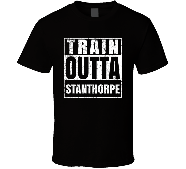 Train Outta Stanthorpe Australia City Straight Outta Parody Crossfit Boxing MMA T Shirt