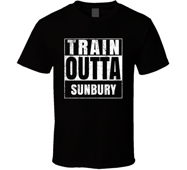 Train Outta Sunbury Australia City Straight Outta Parody Crossfit Boxing MMA T Shirt