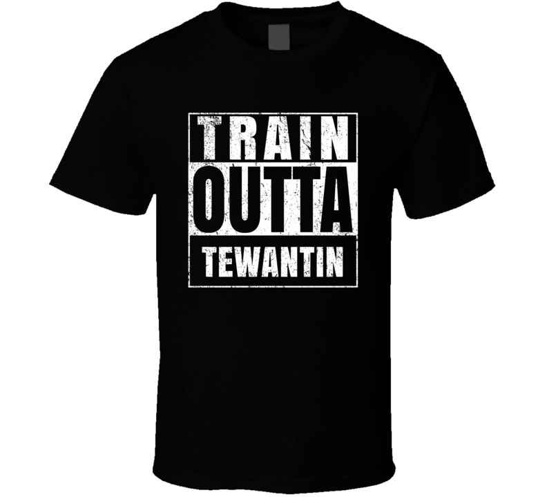 Train Outta Tewantin Australia City Straight Outta Parody Crossfit Boxing MMA T Shirt