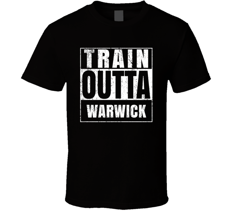 Train Outta Warwick Australia City Straight Outta Parody Crossfit Boxing MMA T Shirt