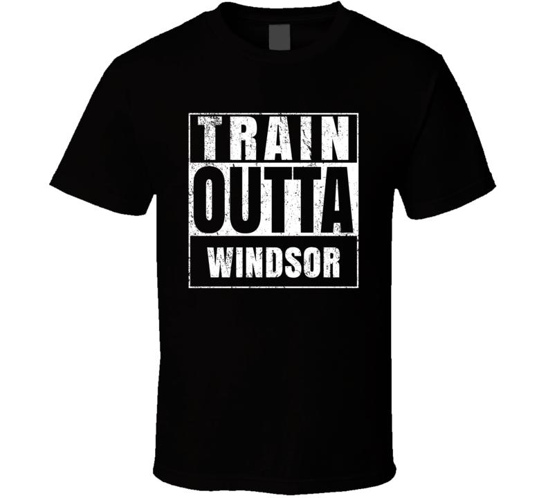 Train Outta Windsor Australia City Straight Outta Parody Crossfit Boxing MMA T Shirt