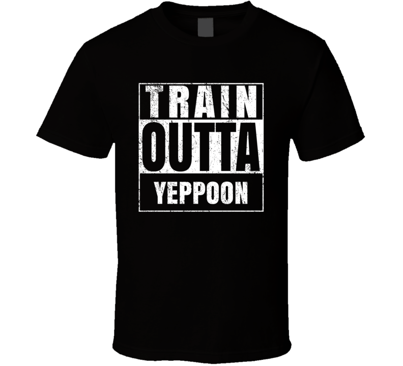 Train Outta Yeppoon Australia City Straight Outta Parody Crossfit Boxing MMA T Shirt