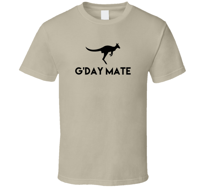 G'day Mate Funny Kangaroo T Shirt