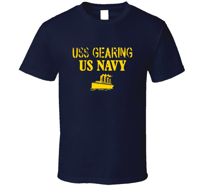USS Gearing US Navy Ship Crew T Shirt