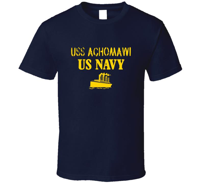 USS Achomawi US Navy Ship Crew T Shirt